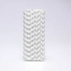 Paper Straw 25 pc - Salor Stripes - Silver