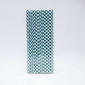 Paper Straw 25 pc - Checker - Navy