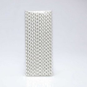 Paper Straw 25 pc - Checker - Grey