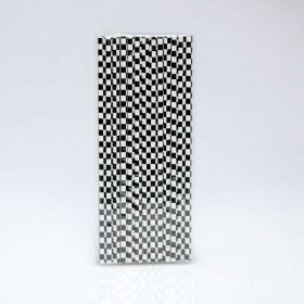 Paper Straw 25 pc - Checker - Black