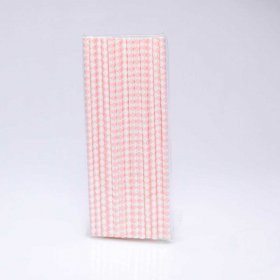 Paper Straw 25 pc - Harlequin - Light Pink