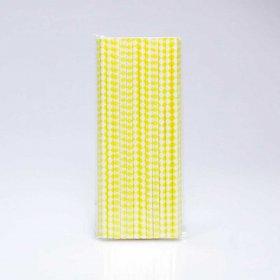 Paper Straw 25 pc - Harlequin - Yellow