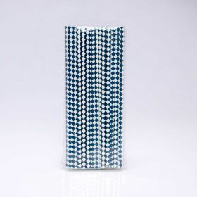 Paper Straw 25 pc - Harlequin - Navy