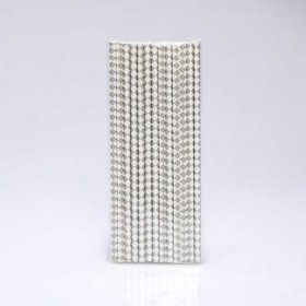 Paper Straw 25 pc - Harlequin - Grey