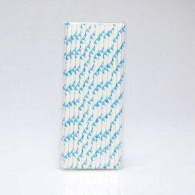 Paper Straw 25 pc - Bunting - Light Blue