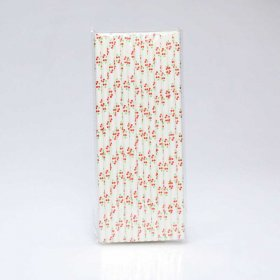 Paper Straw 25 pc - Foods - Cherry