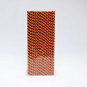 Paper Straw 25 pc - Holiday - Black And Orange