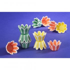 1000 pc Fluted Tulip Cups Assorted Colors