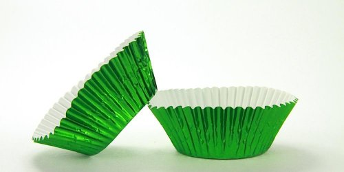 500pc Standard Size Green Foil Baking Cup With Greaseproof Liner