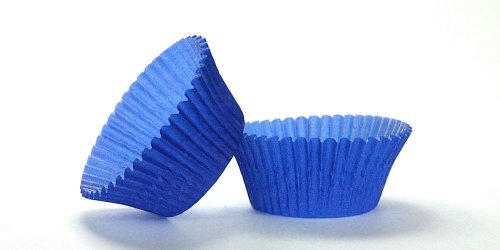 500pc Mini  Greaseproof Baking Cup Blue Design