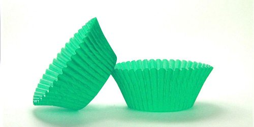 500pc Mini  Greaseproof Baking Cup Green Design
