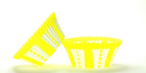 500pc Yellow Carnival Design Standard Size Cupcake Baking Cups Liners Wrappers