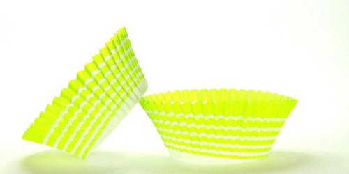 50pc Lime Circle Design Standard Size Cupcake Baking Cups Liners Wrappers