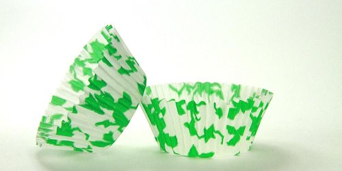 50pc English Ivy Green Design Standard Size Cupcake Baking Cups Liners Wrappers