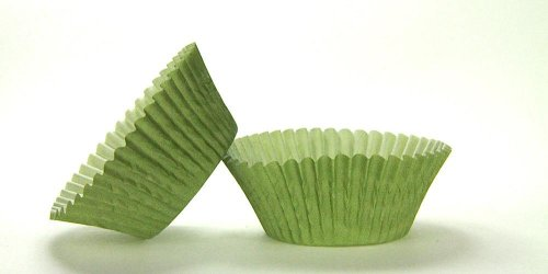 50pc Solid Olive Color Standard Size Cupcake Baking Cups Liners Wrappers
