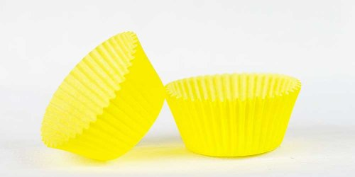 50pc Solid Yellow Color Standard Size Cupcake Baking Cups Liners Wrappers