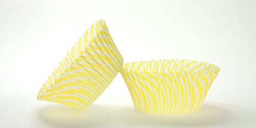 50pc Pisa Design Yellow Standard Size Cupcake Baking Cups Liners Wrappers