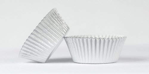 500pc Mini Size  White Foil Baking Cup With Greasepoof Liner