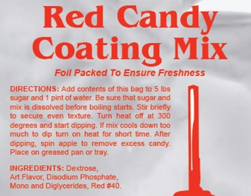 1 LB Bag Candy Apple Coating Red Mix